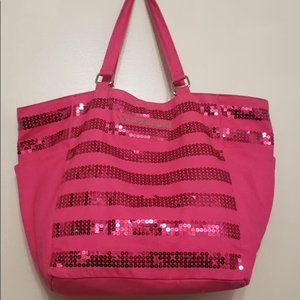 Victoria Secret Pink Sequin Tote Bag